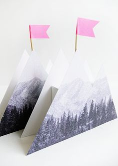 Printable Photoreal Mountain Box | Oh Happy Day!