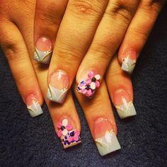 Instagram photo of acrylic nails by nailsmari