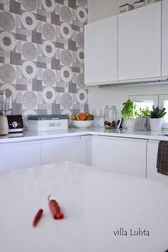 villa Luhta Villa, Kitchen Cabinets, Home Decor, Decoration Home, Room Decor, Cabinets, Home Interior Design, Fork, Villas