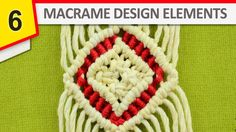From this macrame pattern you can make nice decorations for plant hangers…