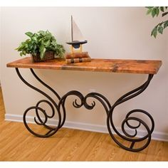 Wrought Iron Milan Console Table by Mathews & Co.