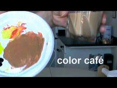 MEZCLAR COLORES. El marrón. Cómo conseguir diferentes marrones. Mix colors. Brown. - YouTube