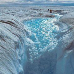 A view of Melting Ice Sheet in Greenland.