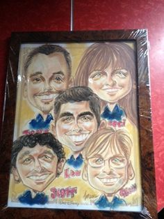 The 5 Hour Show Caricature featuring Lou, Tony, Beci, Scott and Glenn.