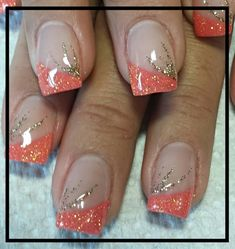 French Nails - Hello my page Nail Tip Designs, French Nail Designs, Simple Nail Designs, Acrylic Nail Designs, Acrylic Nails, Coral Nail Designs, Art Designs, Fingernail Designs, Fancy Nails