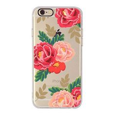 Pretty Vintage Red Rose Print. - Soft TPU Case - Durable - High Quality - Access to All Ports - Available for iPhone 6 6S, 6 Plus/6sPlus