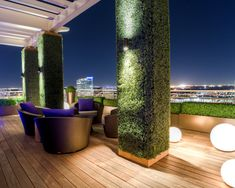 outdoor by Harold Leidner Landscape Architects http://www.houzz.com/photos/542378/Private-Residence-Modern-Rooftop-Garden-modern-patio-dallas