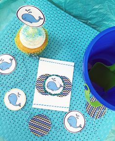 Make your own party decor with cute whale art