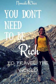 If something is stopping you to travel the world you should read this, might be too many people is telling you it is too expensive? Check more and click!