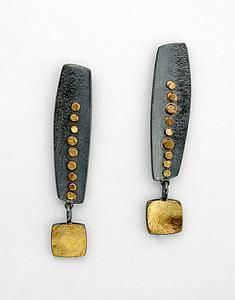 "Sydney Lynch ""Long Inca Earrings"" Gold & Silver Earrings"