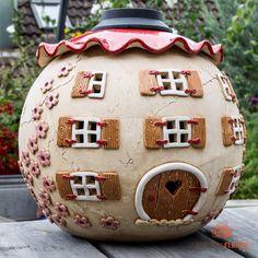 """Steffi Ernst-Fleury on Instagram: """"Neue Produkte ! Hier noch die XXL Variante der Gartenkugeln 😊 www.keramik-fleury.de #wichtelhaus #gartenkugel #keramik #lichtkugel…"""""""