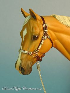 Tack by Heather Moreton-Abounader on a Matriarch resin sculpted by Carol Williams.