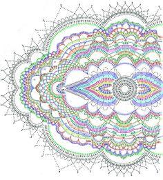 Most up-to-date Photos Crochet Doilies round Ideas Подарок для Прекрасной Дамы – Marj Jackson – # Motif Mandala Crochet, Crochet Doily Diagram, Crochet Circles, Crochet Doily Patterns, Crochet Round, Crochet Chart, Crochet Squares, Crochet Home, Crochet Doilies