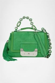 624fb6e7883 DVF   Harper Suede Daybag in Turf, Spring 2012  Beginnings LOVE THIS BAG (