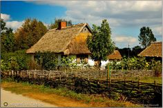 Skansen - Sierpc Farm Paintings, Sound Stage, The Old Days, Architecture Old, Fantasy World, Countryside, England, Cottage, Landscape