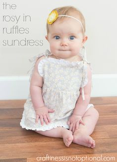 rosy in ruffles sundress with FREE pattern