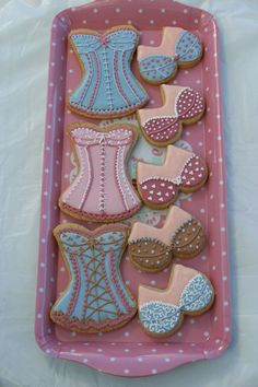 A range of underwear cookies