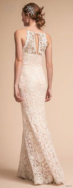 bhldn spring 2018 bridal sleevelss halter neck full embellishment elegant clasic a  line wedding dress lace back sweep train (23) bv -- BHLDN Spring 2018 Wedding Dresses