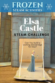 This castle STEAM challenge is a great activity to pair with the Magic Tree House book, A Knight at Dawn. You'll love this Frozen castle drawbridge twist! Science Projects For Kids, Engineering Projects, Science Experiments Kids, Fun Crafts For Kids, Science For Kids, Kid Crafts, Steam Activities, Kids Learning Activities, Preschool Science