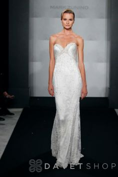 Bridal Gowns: Mark Zunino Sheath Wedding Dress with Sweetheart Neckline and Empire Waist Waistline Wedding Dresses Photos, Bridal Wedding Dresses, Party Dresses, Trendy Clothing Stores, Wedding Gown Gallery, Mark Zunino, Dress Picture, Designer Gowns, The Dress