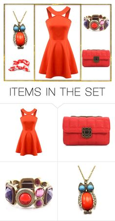 """Orange"" by stylepetronio ❤ liked on Polyvore featuring art"