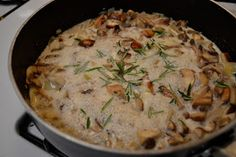 Forever and a Recipe: The Most Delicious Mushroom Cream Sauce Ever