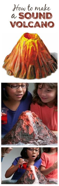 COOL SCIENCE: MAKE A SOUND VOLCANO WITH KIDS- so fun!