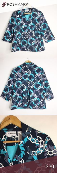Alfred Dunner Blazer Size 10 Excellent condition. Alfred Dunner Blazer. Size 10. Color blue and white.  No rips or stains. Alfred Dunner Jackets & Coats Blazers
