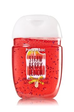 Strawberry Lemon - PocketBac Sanitizing Hand Gel - Bath & Body Works - Now with more happy! NEW PocketBac is perfectly shaped for pockets & purses, making it easy to fight germs on-the-go! Plus, our all-new skin softening formula contains powerful germ-killers that keep your hands clean & soft.