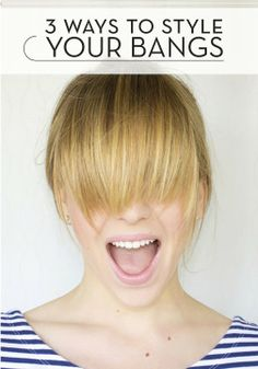 Dealing with grown out bangs? Here are 3 great ways to style them.