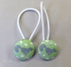 7/8 Size 36 Green/Grey/White/Orange Fox with Leaves by RatDogInk, $6.00