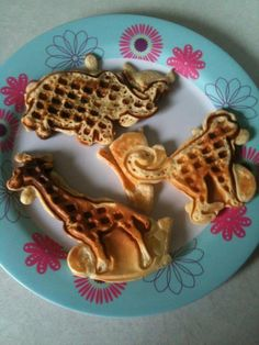 Circus animal Waffles! Fun!
