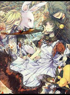 Notachibana, Alice in Wonderland, Alice in Distortion World, Cheshire Cat, Alice (Alice in Wonderland), White Rabbit