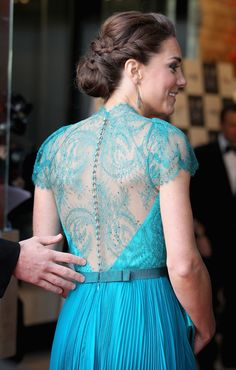 Loving Kate Middleton's dress! The color and the lace are perfect!