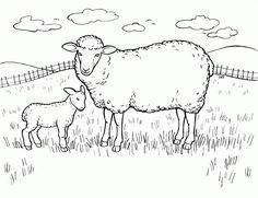 Flock Of Sheep Coloring Pages from Funny Sheep Coloring Pages for Kids. Do you want to print beautiful pictures of sheep for coloring? On this page, you can find a collection of sheep coloring pictures. By scrolling throug. Farm Animal Coloring Pages, Preschool Coloring Pages, Cat Coloring Page, Bible Coloring Pages, Free Coloring Sheets, Coloring Pages For Boys, Coloring Pages To Print, Printable Coloring Pages, Coloring Books