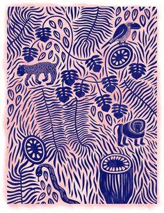Print : Linocut / beatpie:Linnéa Puranen
