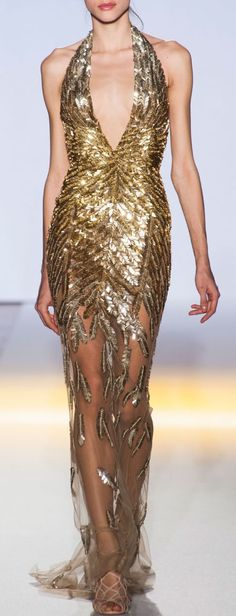 Gold leaf gown / Zuhair Murad haute couture 2013