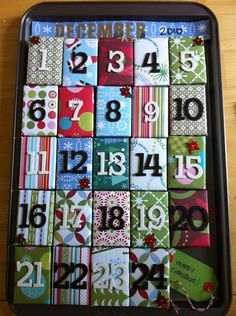 Advent Calendar Christmas Countdown Gift Boxes and Decoration. $23.00, via Etsy.