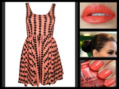 ANGEL BIBA CORAL SPOT DRESS Coral, Angel, Dresses, Fashion, Vestidos, Moda, Fashion Styles, Dress, Fashion Illustrations
