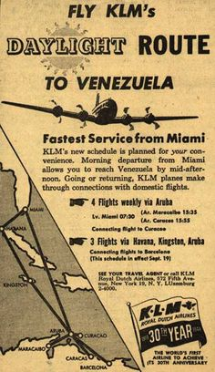 KLM Royal Dutch Airline's Venezuela – Fly KLM's Daylight Route to Venezuela (1949)