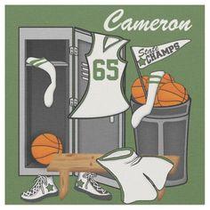 Basketball Lockerroom Custom Player Name Number #crafting #sports #basketball #sewing #templates #gifts #shopping