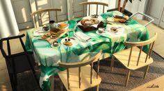 Tropical Table Clothes at Viikiita Stuff • Sims 4 Updates