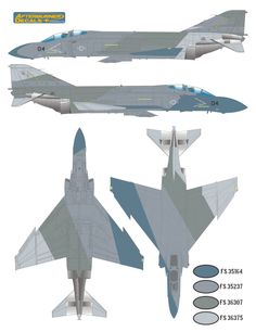 F-4S Phantom II Ferris Camouflage #2 Color Profile and Paint Guide Updated