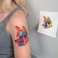 Tattoo triangle symboles tatouages origami tattoo