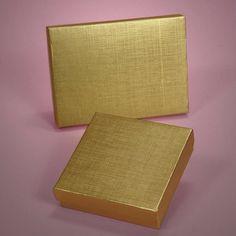 Gold linen box
