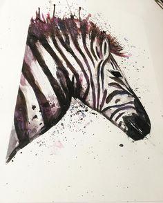 Sieh dir dieses Instagram-Foto von @annikaangeliqua an • Gefällt 46 Mal Art by annikaangeliqua zebra aquarelle watercolor