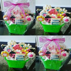 Birthday basket for a 14 year old. Birthday Basket, 14 Year Old, Treat Yourself, Delish, Bakery, Treats, Breakfast, Food, Sweet Like Candy