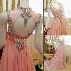 Prom Dresses 2014, Pink Long Prom Dresses 2014, Cheap Long Formal Evening Prom Dresses, Sexy Beaded Lace Chiffon Prom Dress 2014 BFW310