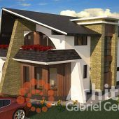 Casa cu etaj 54 | Proiecte de case personalizate | Arhitect Gabriel Georgescu & Echipa Modern House Facades, Luxury House Plans, Facade House, Design Case, Buildings, House Design, How To Plan, Outdoor Decor, Home Decor