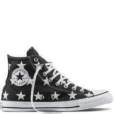 61ae986e3d140f Chuck Taylor All Star Little Star Print Zwart Wit Wit black white